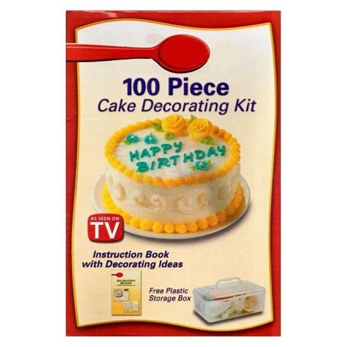Cake Decorating Kit Kmart : As Seen on TV Cake Decorating Kit - 100 Pcs Buy online ...