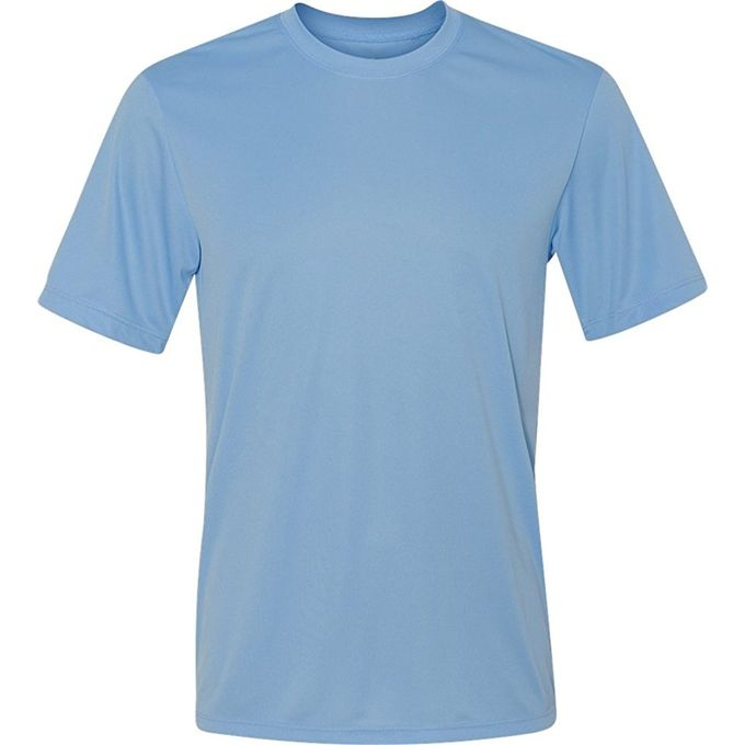 Hanes Sport Mens Heathered Performance T-Shirt [Light Blue, X-Large]