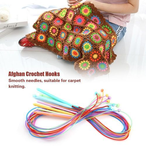 Sale On Abs Plastic Afghan Tunisian Crochet Hook Set With Cable