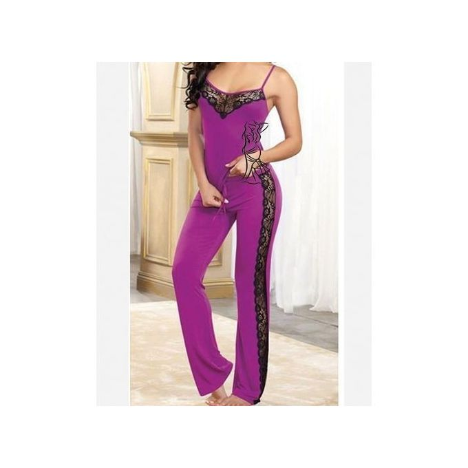 Lycra Pajamas - Purple