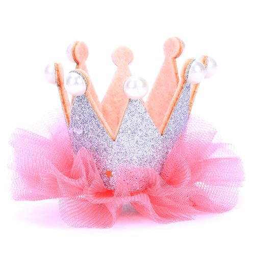 Crown Pet Dog Clip Princess Pet Grooming Dog Hair Clip Pet Dogs Hair Accessories For Small Medium Dogs Headdress Pets Products Silver