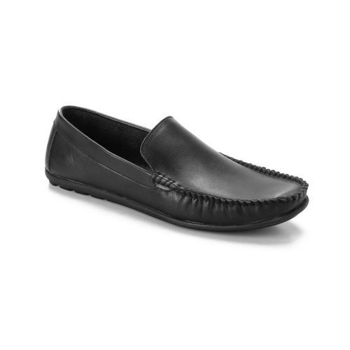 Elegant Genuine Leather Men Shoes - Black