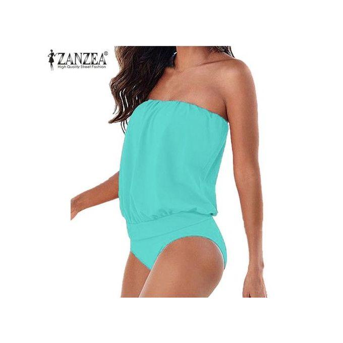0cd35c74d Sale on Zanzea New Women Sexy Strapless Slim Rompers Summer Jumpsuit ...