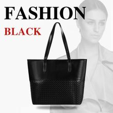 1789296dce40 Women Elegant Large Capcity Solid Shoulder Bags Handbag Casual Tote-Black