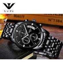 da41a2a61ab3d NIBOSI Watches Men Waterproof Stainless Steel Luxury Analogue Wrist Watches  Chronograph Date Sport Quartz Watches Montre