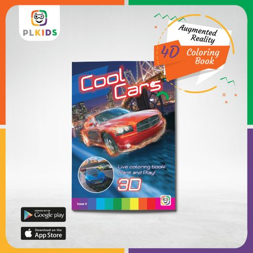 Sale on 3D Cool Car Coloring Book With The Augment Reality ...