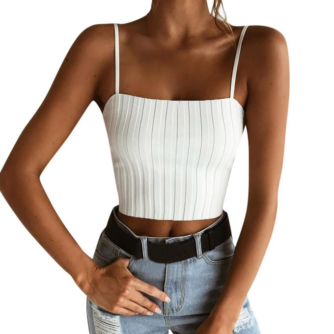 0d13c82bde45c Generic Womens Slim Solid Tank Top Vest Off Shoulder Halter Blouse T-Shirt  Camis A1