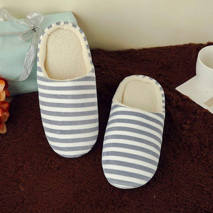 Sale On Hiamok Women Men Warm Striped Slipper Indoors Anti Slip