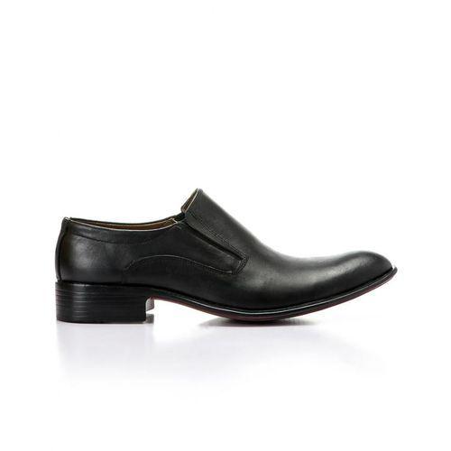 Elegant Men's Classic Leather Shoes - Black