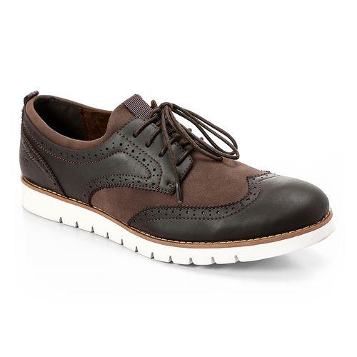 Zipped Classic Men Shoes - Brunt Brown
