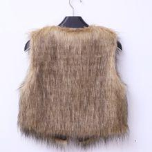 929f1236ab5 Hiamok Women  039 s Warm Faux Fur Sleeveless Vest Coat V-Collar Waistcoat