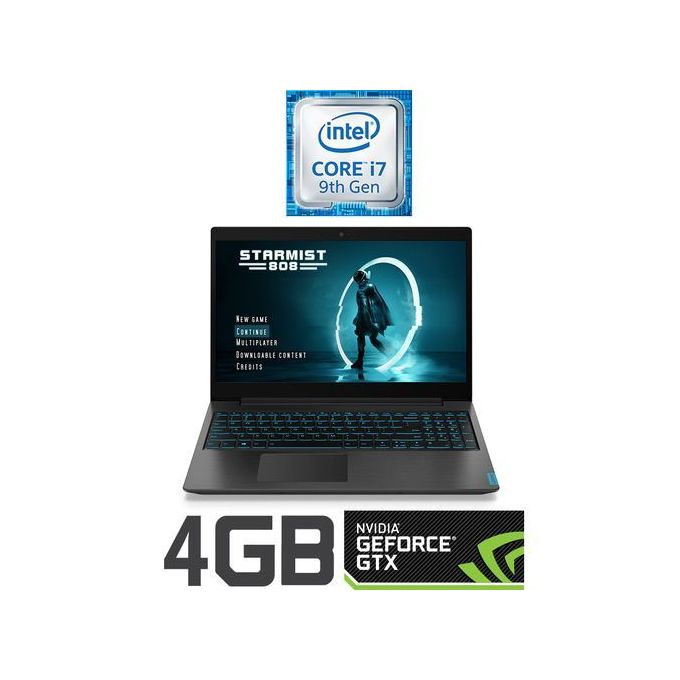Lenovo IdeaPad L340-15IRH - Intel Core I7 - 16GB RAM - 512 SSD - 4GB GPU - 15.6 FHD - DOS - Black