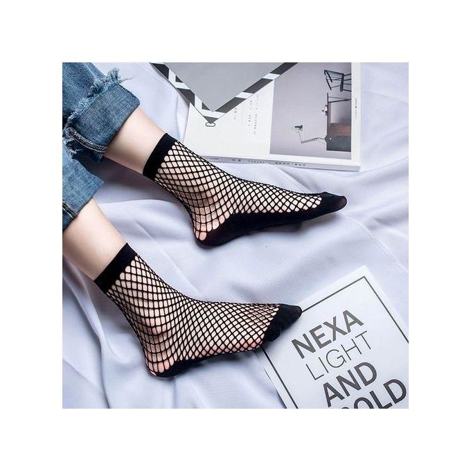 d114706ea68 ... Featured Socks Women Sexy Lace Fishnet Net Plain Top-Ankle Short Socks  Stylish ...