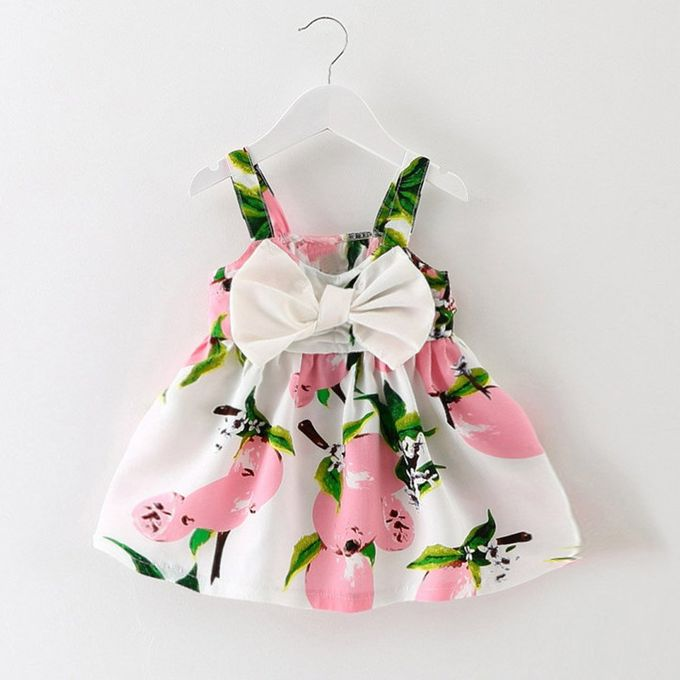Baby Girl Clothes Lemon Printed Infant Outfit Sleeveless Princess Gallus Dress
