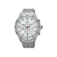 3376b4d66 SEIKO Men's Hand Watch CHRONOGRAPH Stainless Steel Bracelet, White  Dial and