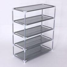 6e86e9f2cf Metal Shoe Rack Storage Organizer Stand Fabric Shelf Holder Stackable Closet