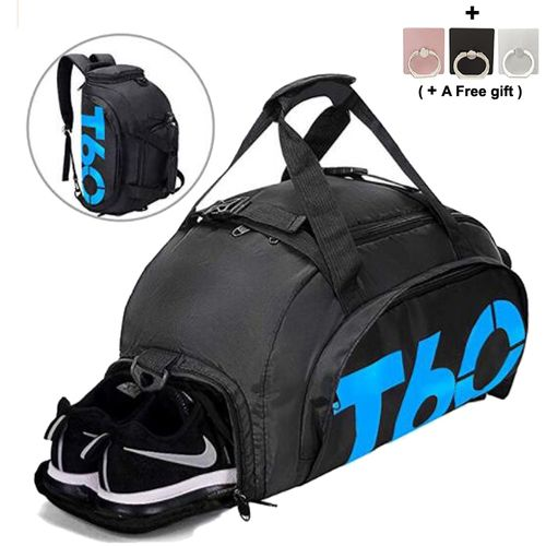 8c2f7126b0319 Sports Duffels Gym Bags Waterproof Travel Fitness Bag With Shoes  Compartment-Blue