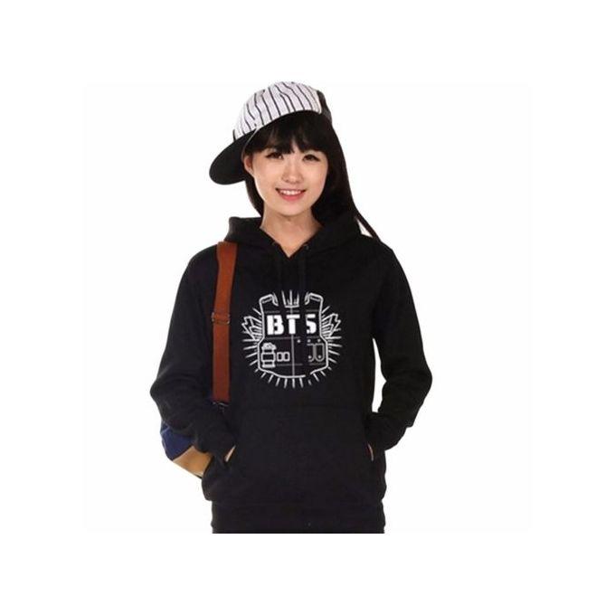 0a60c0c6cc22c Women Hoodie Sweatshirt Clothing Hoody Sweatshirts BTS Sweatshirts Women  Long Sleeve Hoodies Black