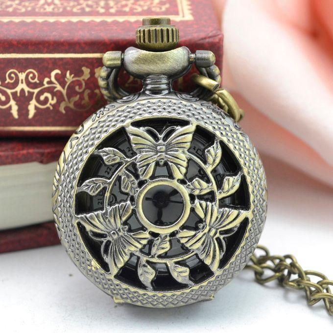 59fa4583b Vintage Steampunk Retro Bronze Design Pocket Watch Quartz Pendant Necklace  Gift