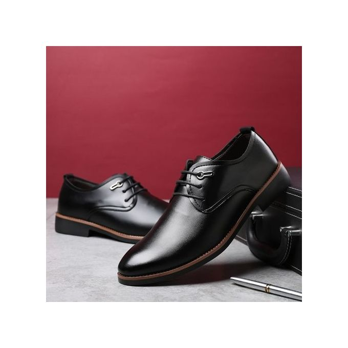 365b49bb9453d 2018 Men s Classic Lace Up Leather Formal Shoes Men Genuine Leather Casual  Shoes ...