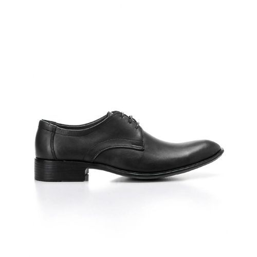 Genuine Leather Classic Lace Up Shoes -Black