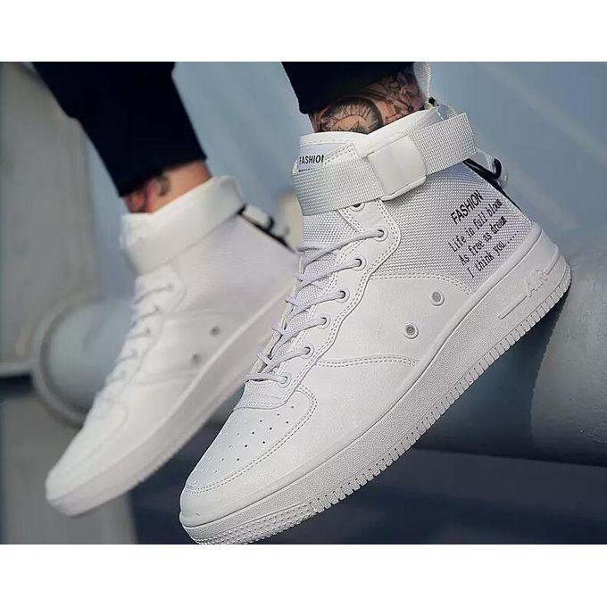 4b7c36e1ededa أزياء الرجال أحذية الموضة أحذية جلدية للرجل جديد أحذية عالية أعلى قماش عارضة