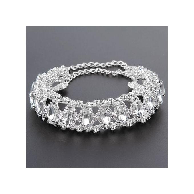 65e65a64ea Noble Stylish Full Diamond Crystal Rhinestone Choker Collar Necklace  Jewelry SL
