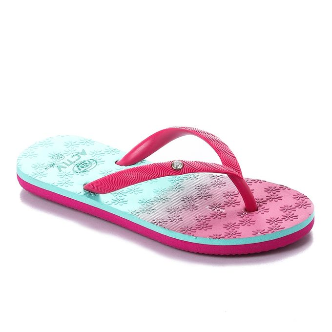7e451af43 Sale on Floral Pattern Girls Slippers - Fuchsia  Turquois