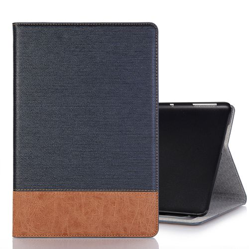 new concept dbf55 547ac Cross Texture Horizontal Flip PU Leather Case For Huawei MediaPad M5 Lite  10.1 Inch, With Holder & Card Slots & Wallet (Dark Blue)
