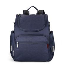 7b296a4ef49aa Large Capacity Mummy Maternity Backpack Multi-functional Baby Diaper Bag  Changing Mat(Navy Blue