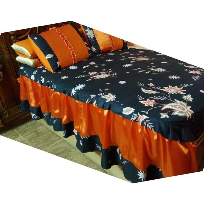 Floral Bed Sheet Set – 6 Pcs –  مصر