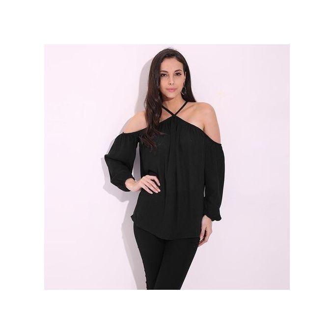 89f3bcdef51b3 ZANZEA Women Fashion Tops Summer Europe Style Ladies Halter Neck Off  Shoulder Blouse Shirt Fashion Wild