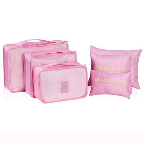 c1d486bc394 6Pcs Waterproof Cube Travel Storage Bags Clothes Pouch Nylon Luggage  Organizer Travel Bag