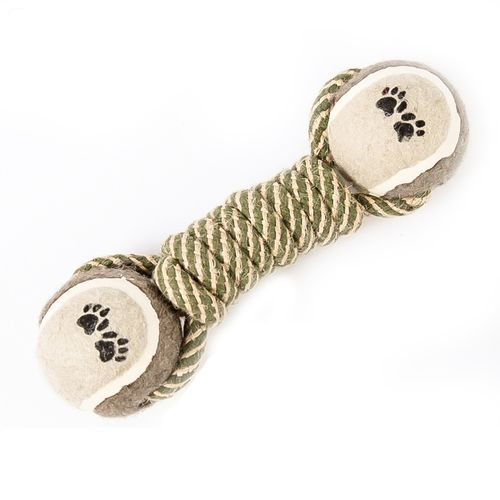 Pet Dog Chew Toys For Dog Dumbbell Rope Tennis Paw Ball Puppy Dog Teeth Cleaning Training Tool