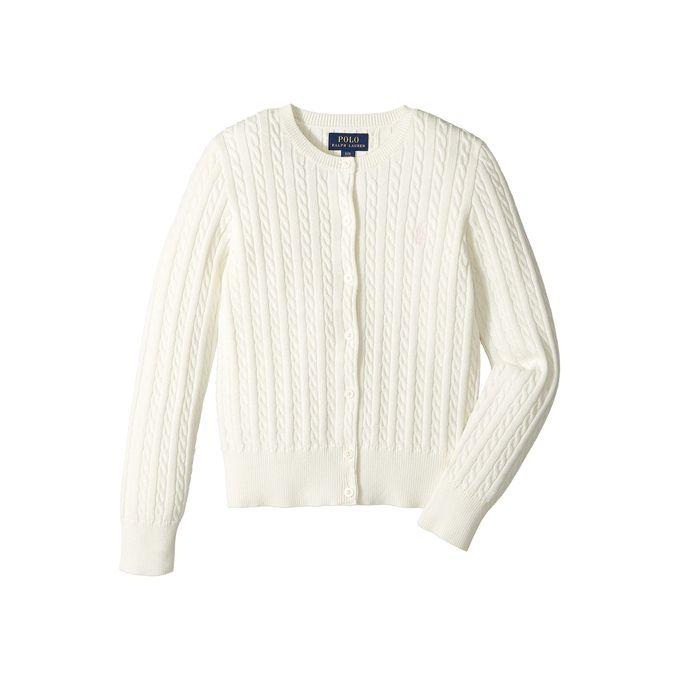 7c09dc44ad9 Polo Ralph Lauren Kids Cable Knit Cotton Cardigan (Little Kids/Big Kids)