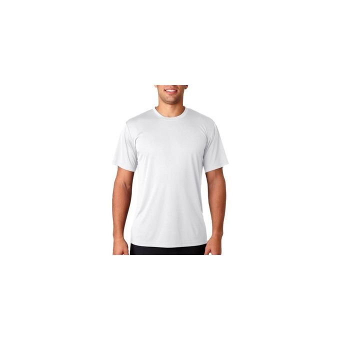 Hanes Sport Mens Heathered Performance T-Shirt [White, Small]