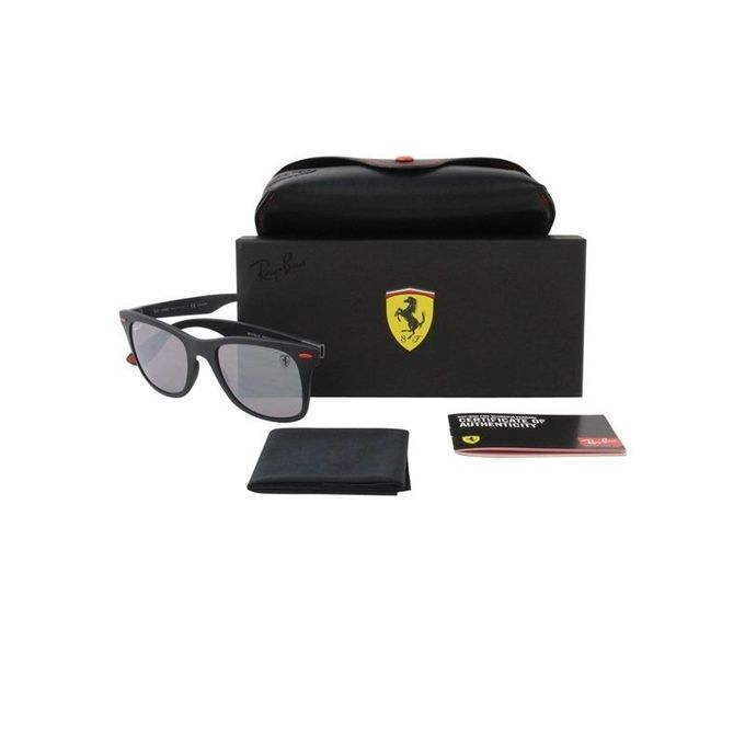 5d9c0a3571d217 ... Ray-Ban RB4195M Scuderia Ferrari Collection Wayfarer Sunglasses Silver  Mirror Polarized (Lightforce)