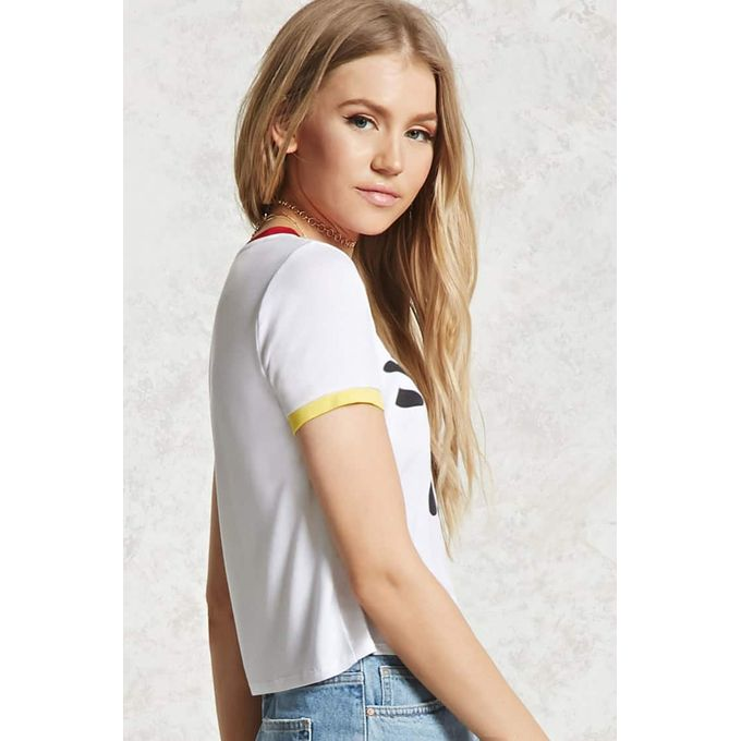 Just Be You Graphic Ringer Tee