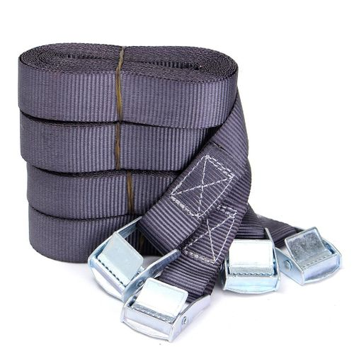4X Heavy Duty Tie Down Strap Strong Ratchet Belt Cargo Lashing With Metal  Buckle