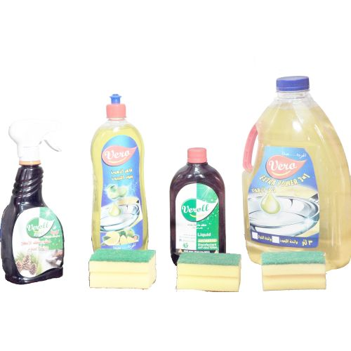 Extra Power Dish Detergent - 3ltr + 750 ml + Veroll Floor Cleaner - 2 Ps +  2 Sponges