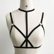 6922af2dc4 Xiuxingzi Sexy Women Ladies Hollow Strappy Bra Cage Crop Top Bustier Tops