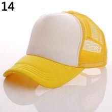 2d23e18cf5d Attractive Baseball Cap Trucker Mesh Visor Adjustable Hat - Yellow  amp  ...