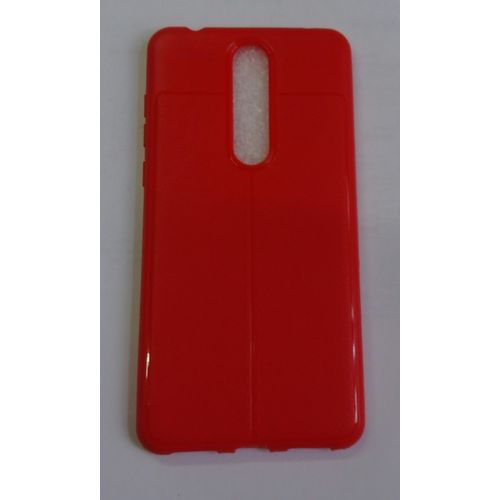 outlet store 2e3d9 c1476 Silicone Back Cover For Nokia 3.1 Plus - Red