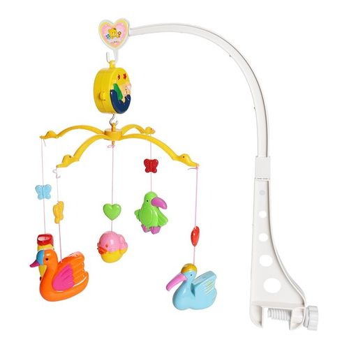 Music Crib Mobile Bed Bell Animals Baby Rattle Rotating Bracket Toys for 0-12 Months Newborn Kids Christening gift