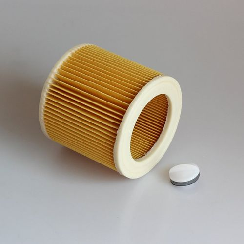 Replacement Filter For Karcher A/WD Series Vacuum Cleaner Element Yellow