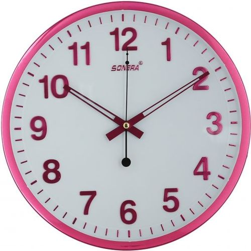 f7f7c6370e Wall Clock Analog Round Decorative Multi Color Modern For · Analog Gym Clock:  Sale On 3971 Analog Wall Clock - Pink