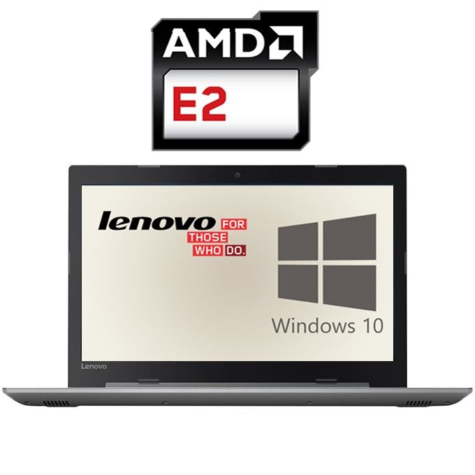 IdeaPad 320 لاب توب - AMD E2 - رام 4 جيجا - هارد 1 تيرا - 15.6 بوصة HD - معالج رسومات AMD - ويندوز 10 - رمادي