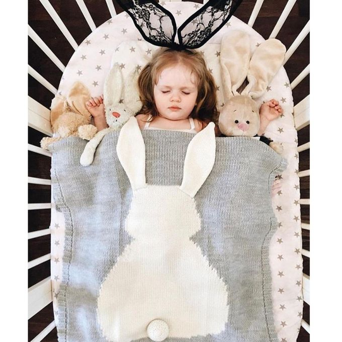 ??ute Bunny Kids Baby Napping Blanket Rabbit Bedding Towel Cover Throw Wrap Soft –  مصر