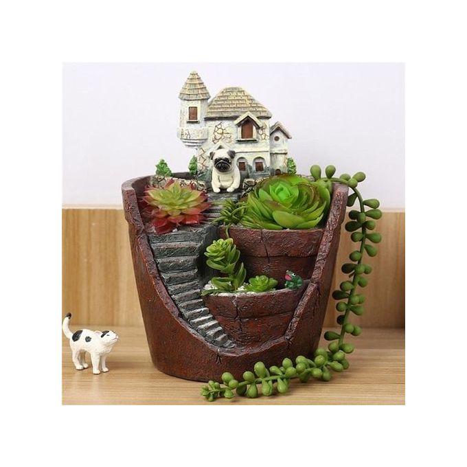 Various Succulent Planter Flower Plant Bonsai Pot Garden Herb Trough Box Basket –  مصر