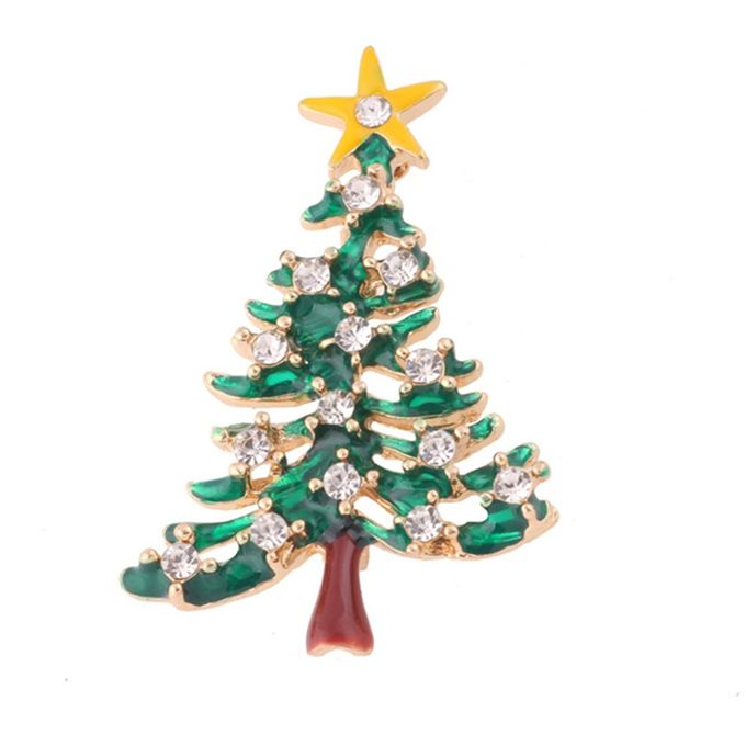 Special Christmas Ornaments.Women Brooch X1706 Special Christmas Tree Decoration Female Clothes Ornaments Green Yellow Transparent